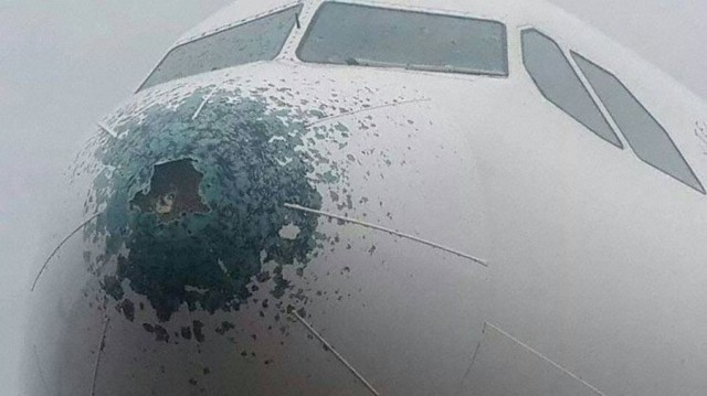 Airbus A330 After Hail Strike Wordlesstech