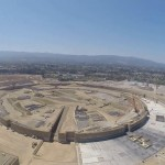 Apple Campus 2 construction by flying drone