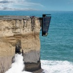 Cliff House suspended above the ocean