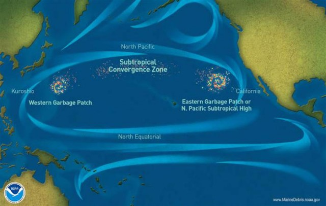 Ocean Surface trash Circulation