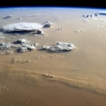 Dust and Clouds dance over Sahara