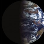 Earth lit during the equinox