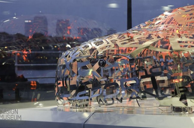 Jaguar XE Word Cloud Sculpture (1)