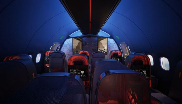 Nike's sports aircraft cabin
