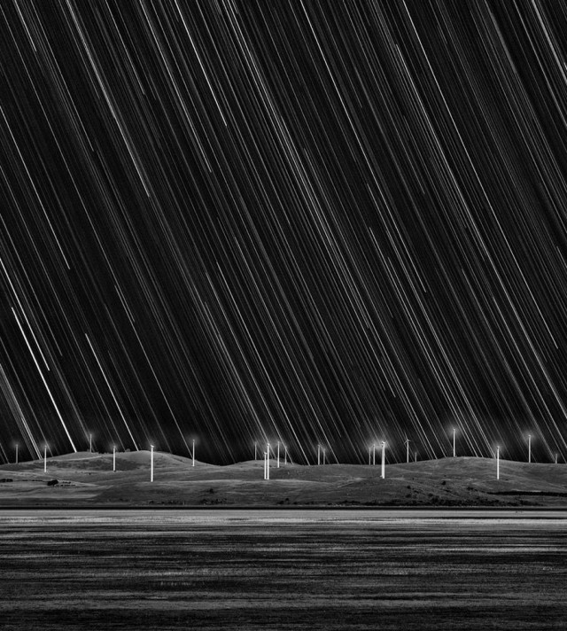 Wind Farm Star Trails by Matt James