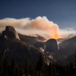 Yosemite Meadow wildfire timelapse