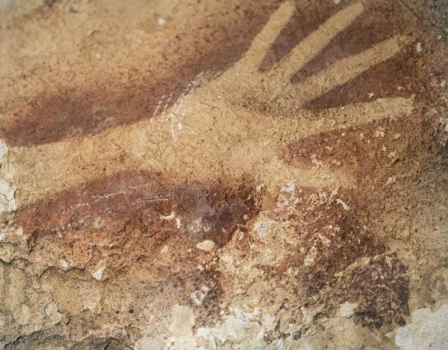 Rock Art found at an Indonesian cave