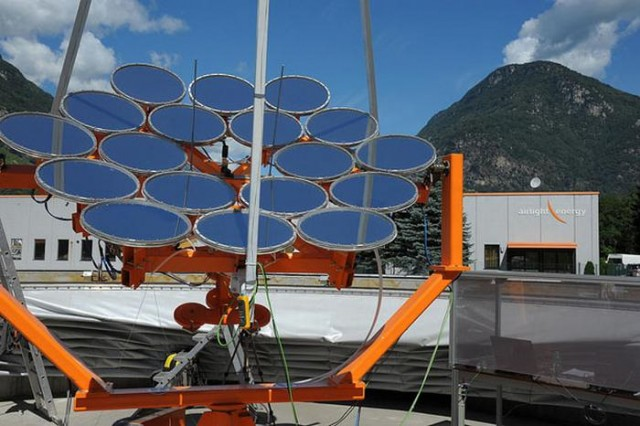 Airlight Energy High Concentration PhotoVoltaic Thermal system (3)