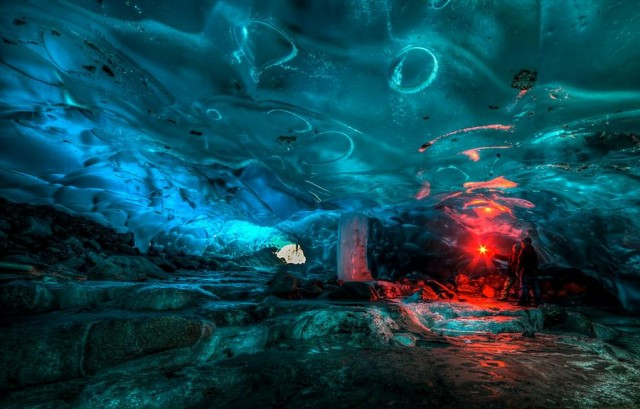 Alaskan Ice Cave by Ron Gile