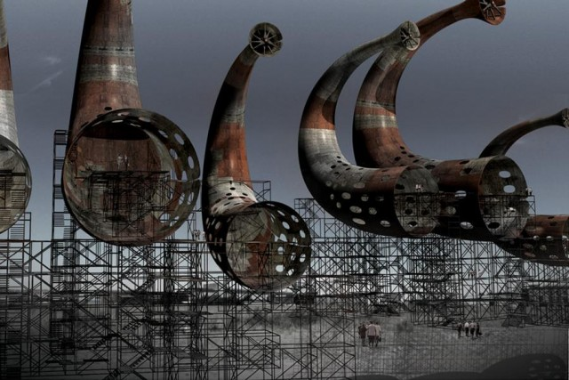 Horn structures produce sounds (3)