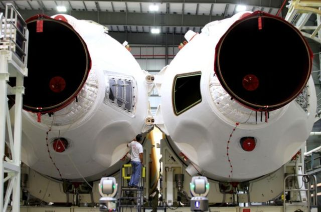 Rocket Boosters for Orion Spacecraft's first flight