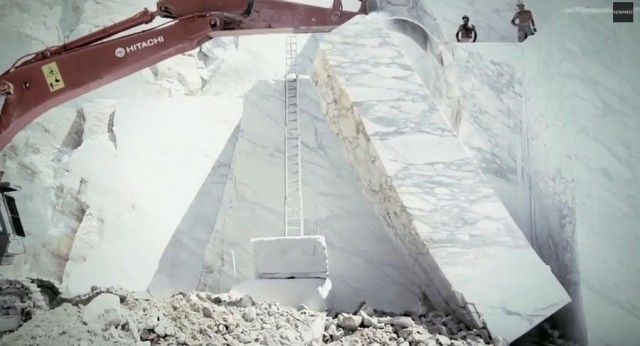 Marble quarry in the Apuan Alps
