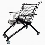 Turning discarded shopping carts into chairs