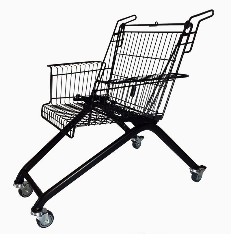 discarded shopping carts into chairs (8)