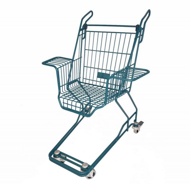 discarded shopping carts into chairs (5)