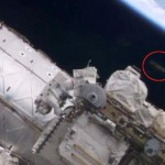 UFO spotted above astronaut as he repairs ISS