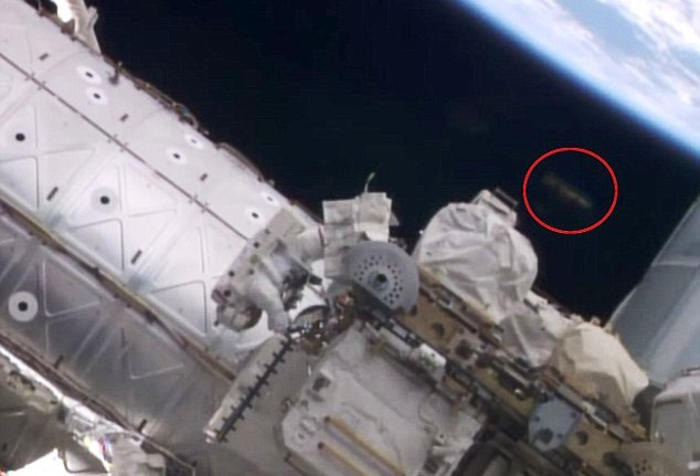 UFO spotted above ISS