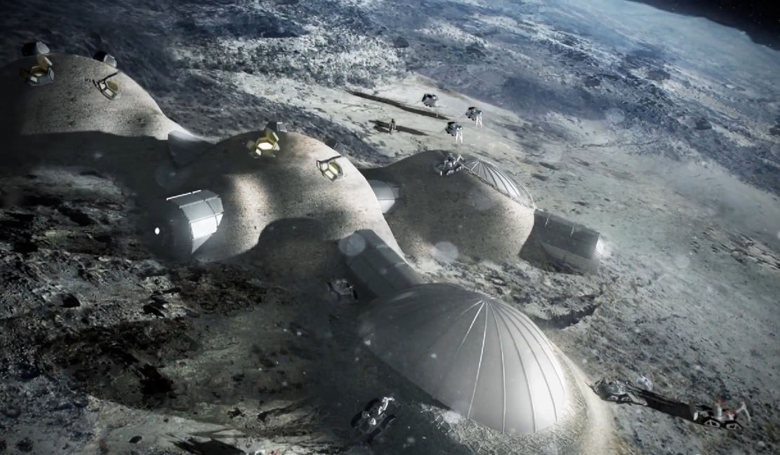 Lunar base by Foster+Partners