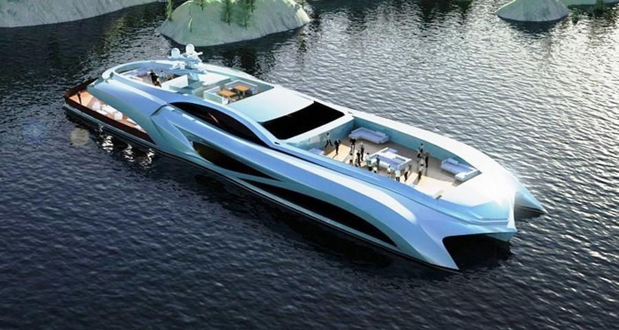Xhibitionist Trimaran Event Superyacht (8)