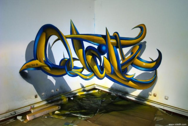 Anamorphic artworks by Odeith