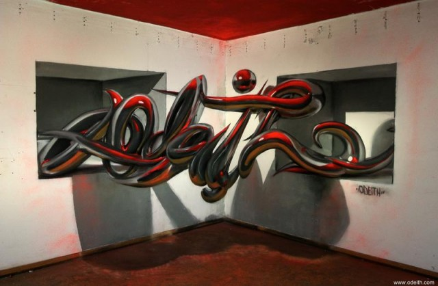 Anamorphic artworks by Odeith (1)