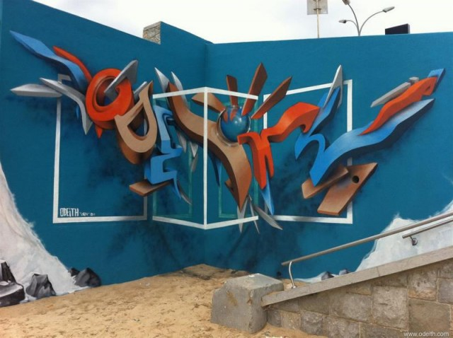 Anamorphic artworks by Odeith (2)
