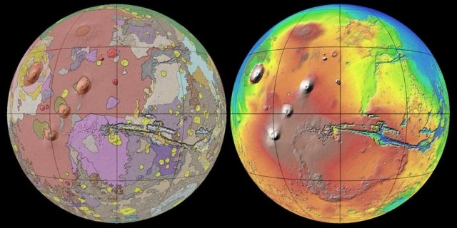 Mars detailed map