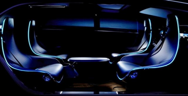 Mercedes Benz futuristic interior