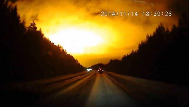 Meteor or Massive blast over Russia