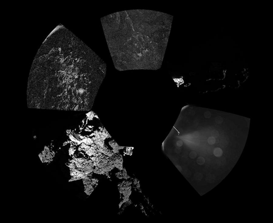 panorama of the surface of the Comet