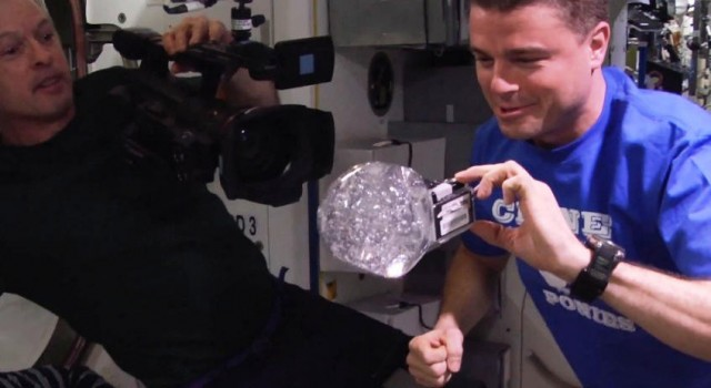 Water Bubble in ISS