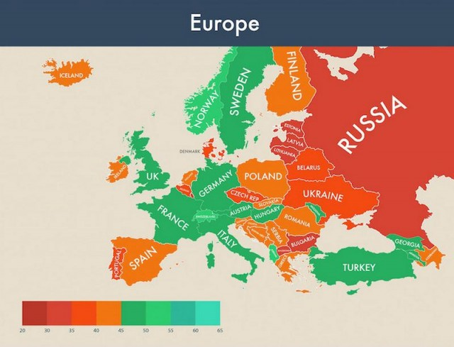 Which country is the happiest (4)