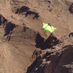 Wingsuit jumping in Moab