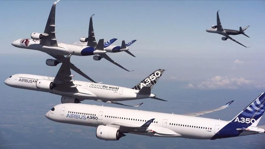 Five Airbus A350 (5)