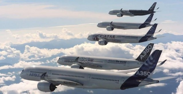 Five Airbus A350 (1)
