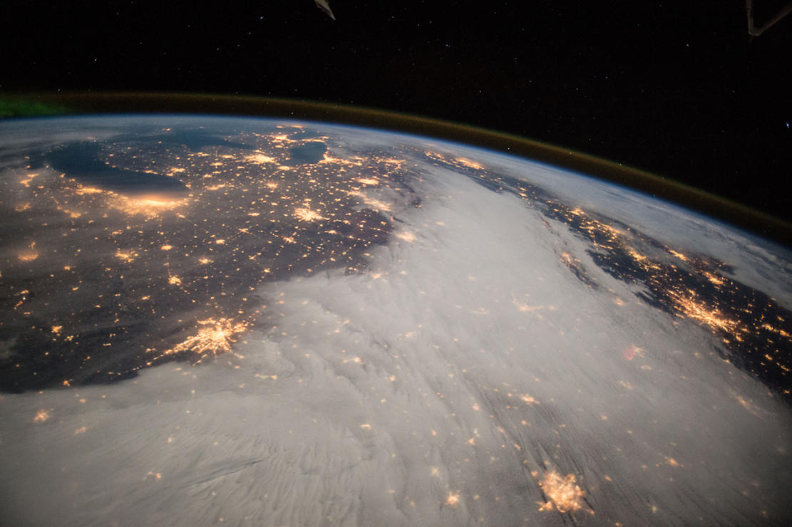 Great Lakes and Central US viewed from ISS