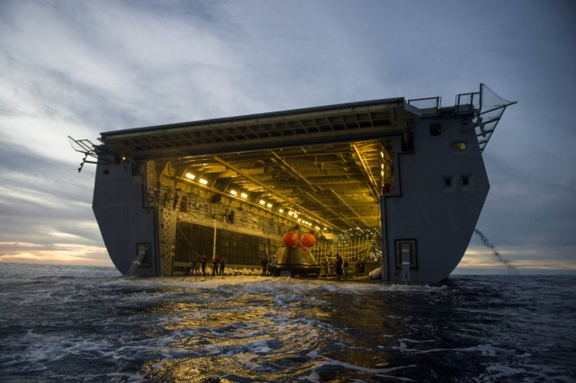 Orion in USS Anchorage