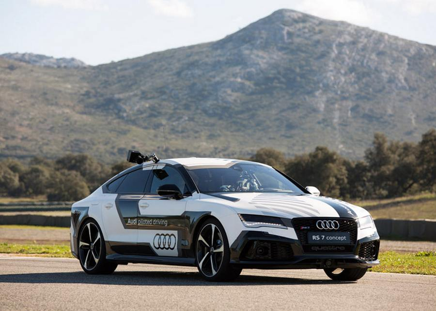 Audi RS 7 driverless car