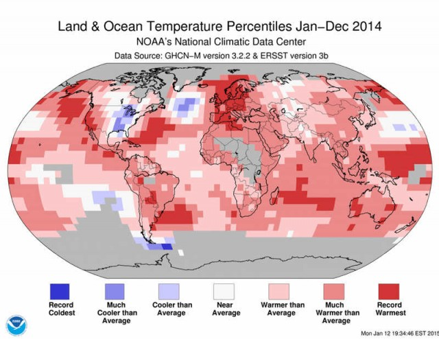 2014 Warmest year ever- map