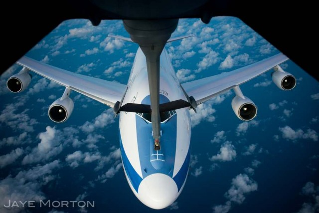 E-4B Nightwatch sips jet fuel
