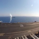 Breaking the Speed of Sound in Aircraft Carrier Flyby