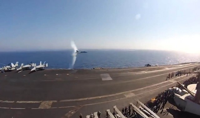 F/A-18C breaking the speed of sound