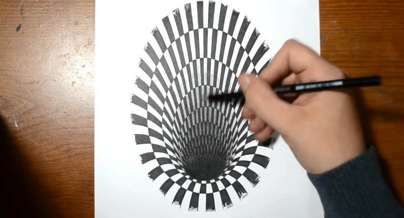 how to draw a hole anamorphic illusion wordlesstech. Black Bedroom Furniture Sets. Home Design Ideas