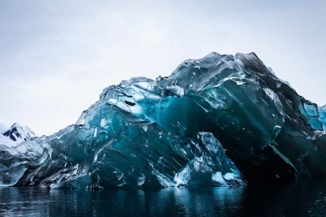 Iceberg Flipped Over in Antarctica