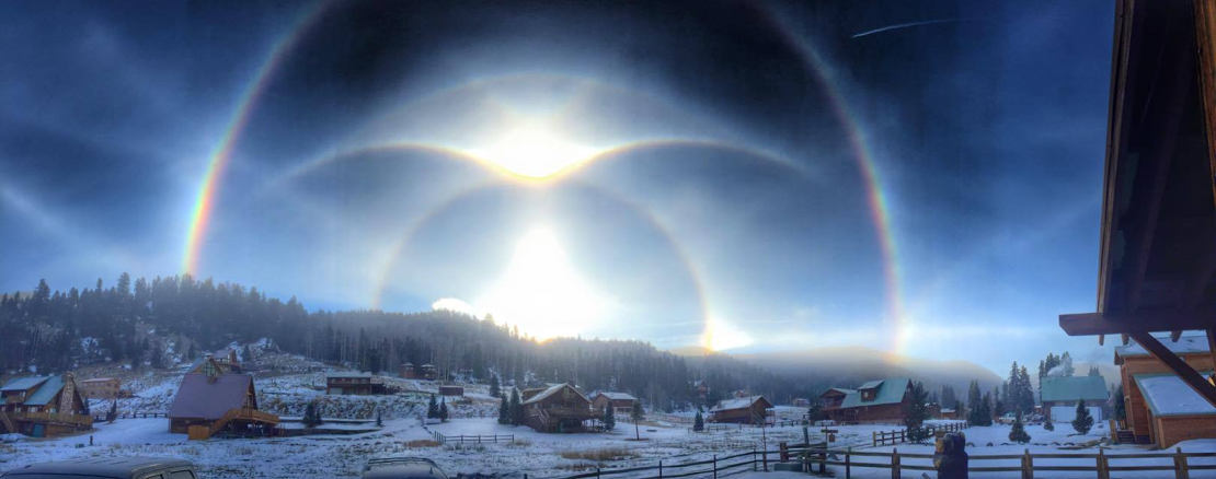 Ice halo over New Mexico