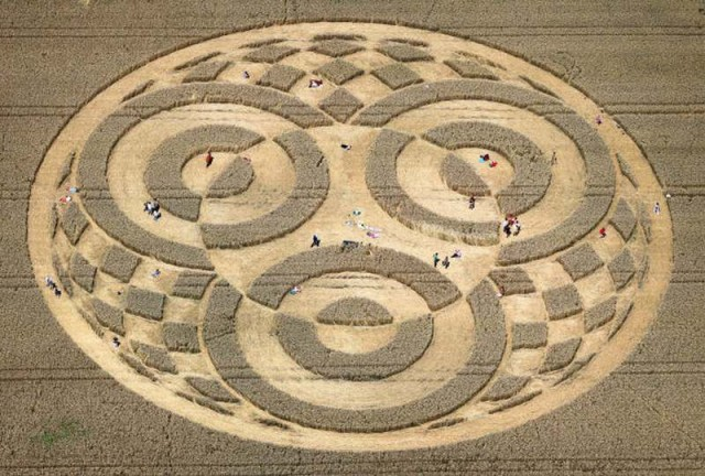 Crop Circle Near Lake Ammer (Ammersee), Bavaria