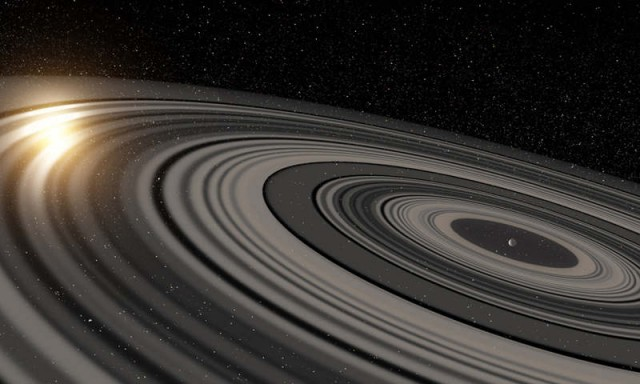 Exoplanet with enormous Ring System