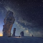 The Milky Way over the Seven Strong Men