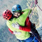 The two climbers complete world's toughest climb!