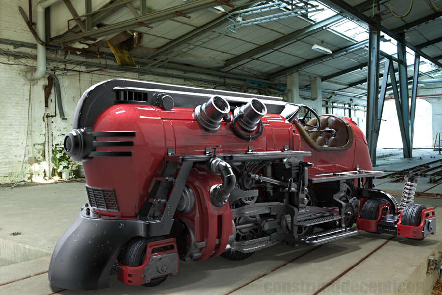 Futuristic Steam Train